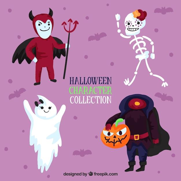 Pacchetto di caratteri divertenti di halloween Vettore gratuito