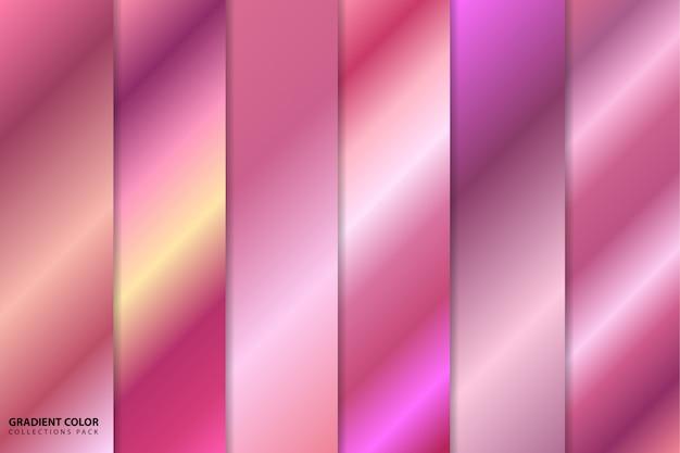 Pacchetto di collezioni con sfumature di colore oro rosa Vettore Premium