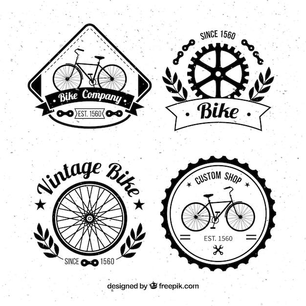 Pacchetto Di Disegni Disegnati A Mano Vintage Biciclette Scaricare