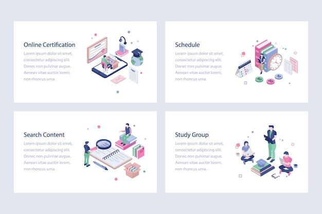 Pacchetto di illustrazioni pack of education Vettore Premium