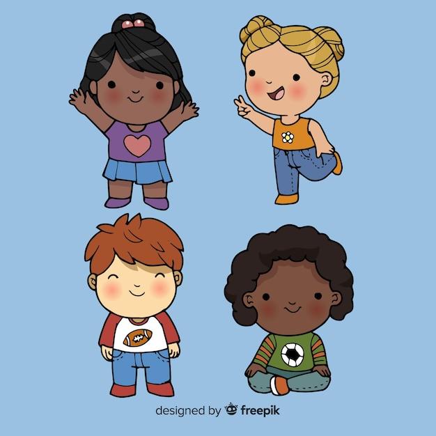 Pacchetto Di Personaggi Dei Cartoni Animati Per Bambini Scaricare