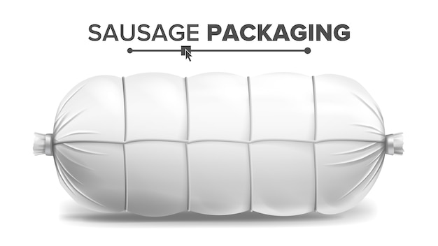 Pacchetto di salsiccia bianca Vettore Premium