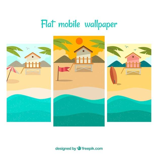 Pacchetto Di Sfondi Per Telefoni Cellulari Da Spiaggia Scaricare