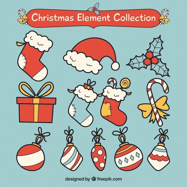 Foto Divertenti Di Natale.Pacchetto Divertente Di Elementi Classici Di Natale