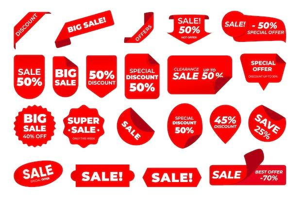 Pacchetto etichette di vendita Vettore gratuito