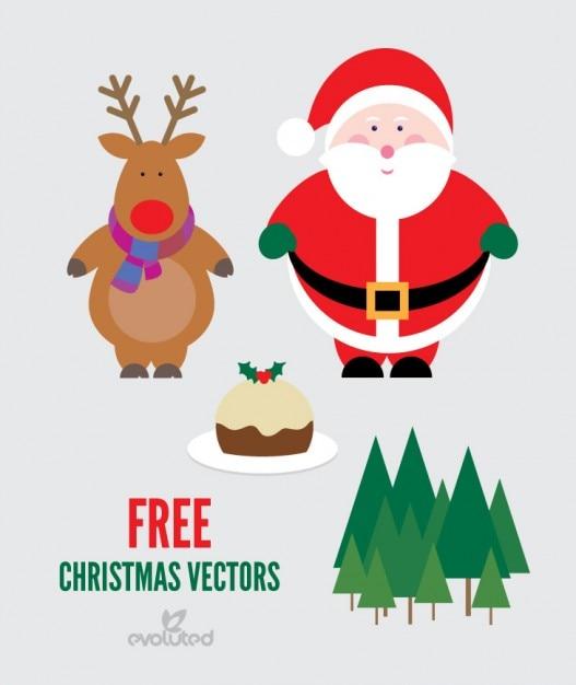 Immagini Vettoriali Natale.Pacco Di Natale Vettoriale Con Babbo Natale E Renne