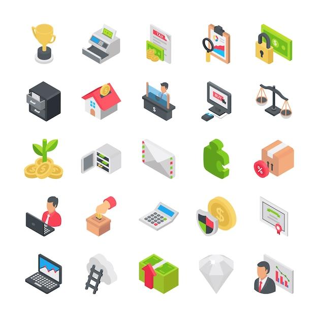 Pack di icone di affari Vettore Premium