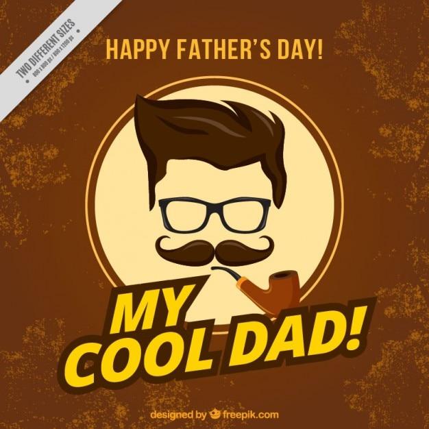 Padre hipster con una carta di tubazione Vettore gratuito