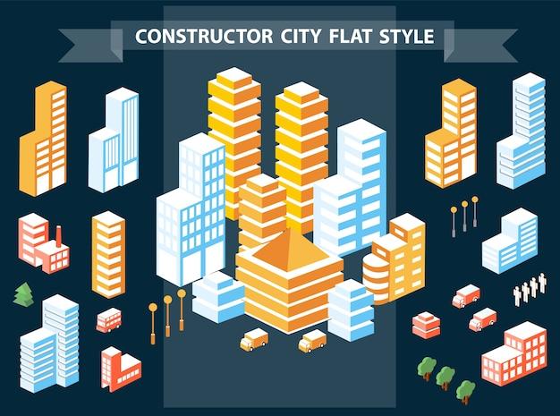 Paesaggi di urban designer Vettore Premium