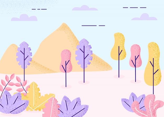 Paesaggio di fantasia Vettore Premium