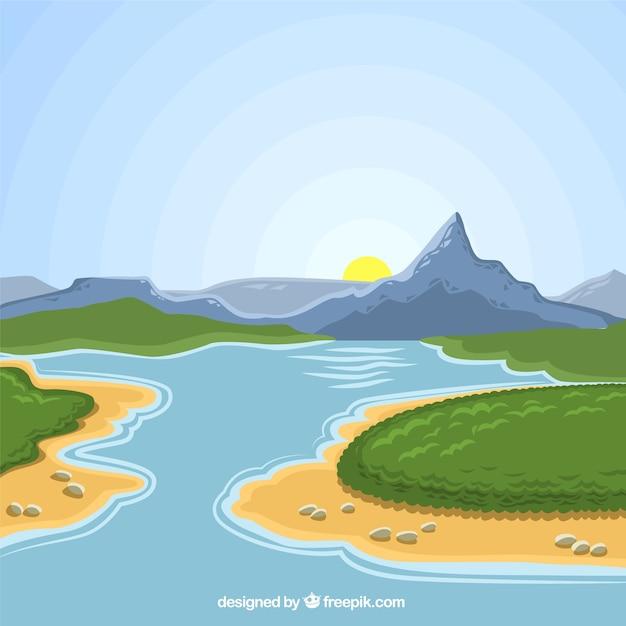 Paesaggio naturale Vettore gratuito