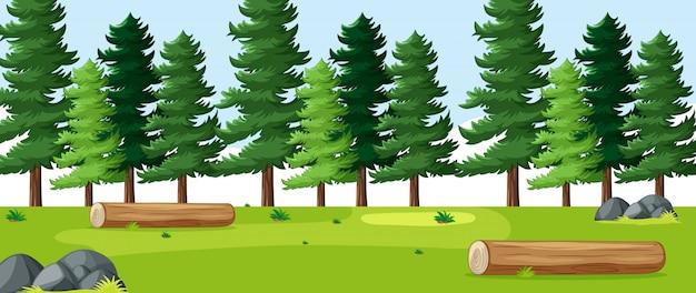 Paesaggio vuoto del parco naturale del fondo Vettore gratuito
