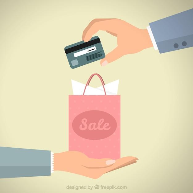 Pagamento con carta di credito Vettore gratuito