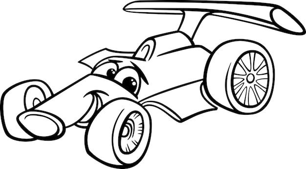 Pagina Da Colorare Di Auto Da Corsa Bolide Scaricare