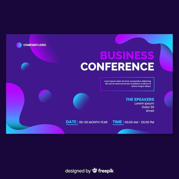 Pagina di destinazione astratta di conferenza di affari Vettore gratuito