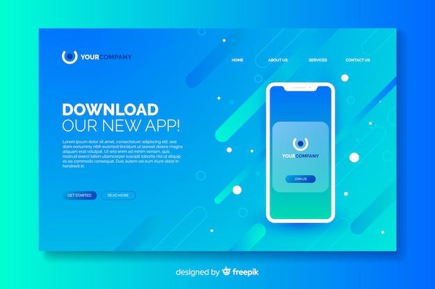 Pagina di destinazione aziendale con dispositivo mobile Vettore gratuito