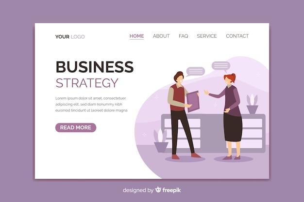Pagina di destinazione brillante strategia aziendale Vettore gratuito