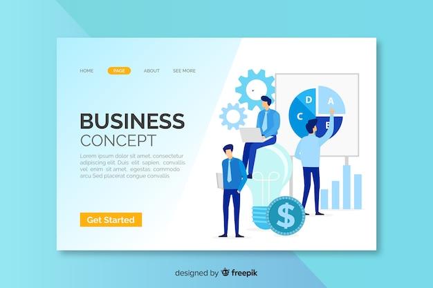 Pagina di destinazione con il concetto di business Vettore gratuito