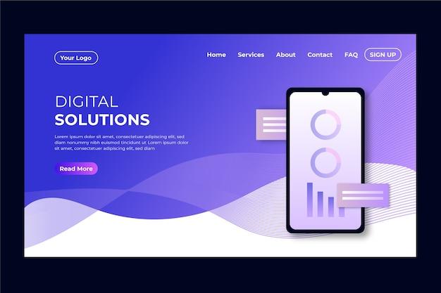 Pagina di destinazione con smartphone Vettore gratuito