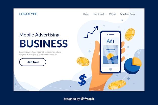 Pagina di destinazione del concetto aziendale Vettore gratuito