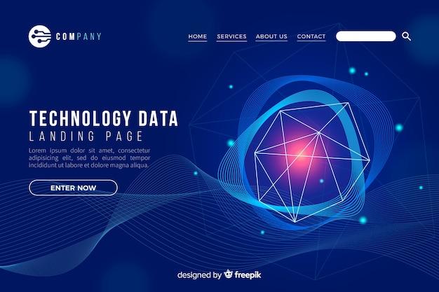 Pagina di destinazione del concetto di tecnologia Vettore gratuito