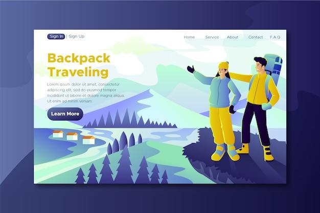 Pagina di destinazione del modello di viaggio Vettore gratuito