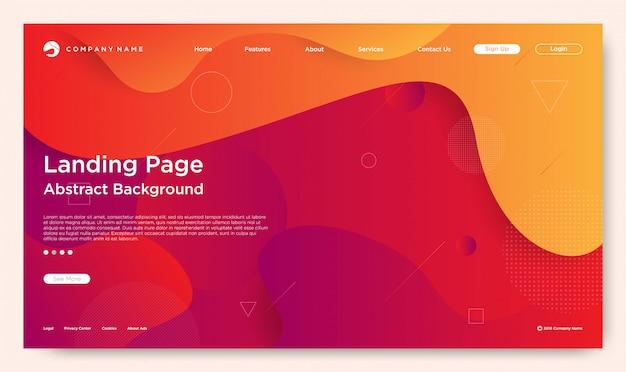 Pagina di destinazione del sito web Vettore Premium