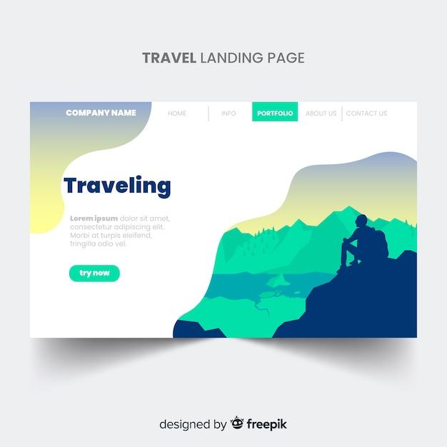 Pagina di destinazione del viaggio Vettore gratuito