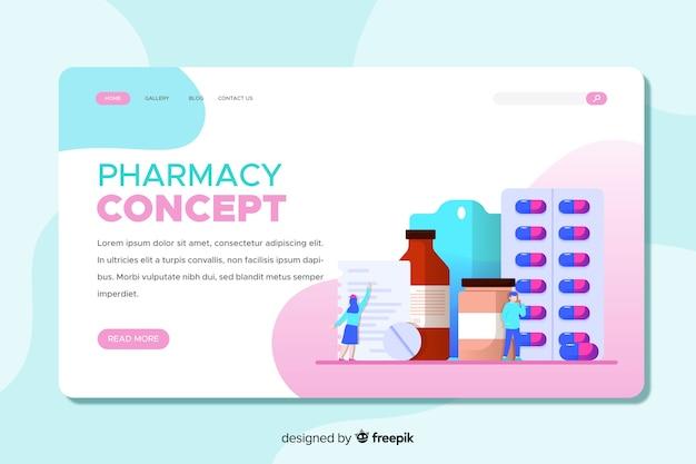 Pagina di destinazione della farmacia colorata Vettore gratuito