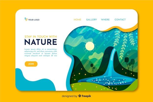 Pagina di destinazione della natura Vettore gratuito