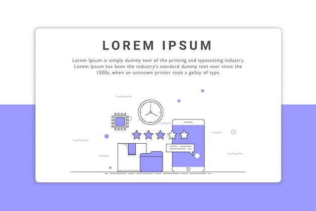 Pagina di destinazione della recensione del prodotto Vettore Premium