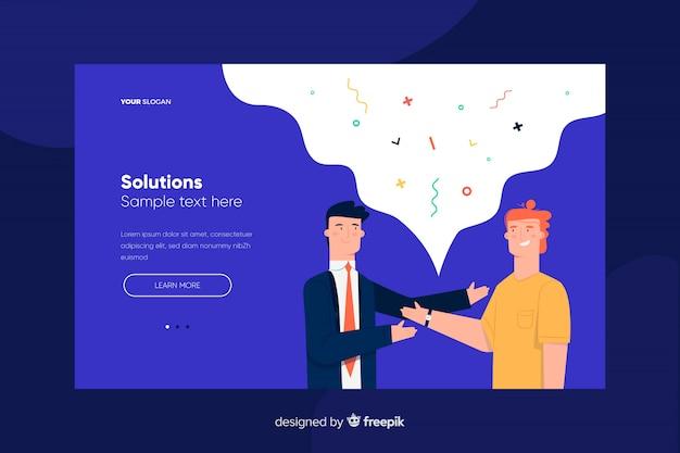 Pagina di destinazione della soluzione Vettore gratuito