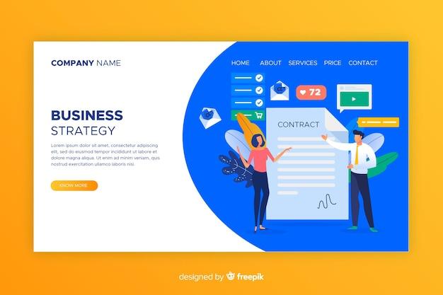 Pagina di destinazione della strategia aziendale Vettore gratuito