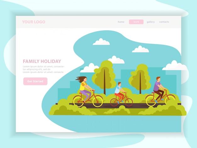 Pagina di destinazione delle vacanze in famiglia Vettore gratuito