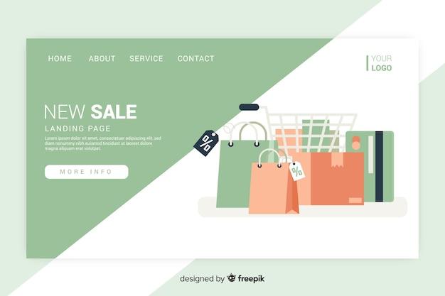 Pagina di destinazione di vendita con bagagli Vettore gratuito