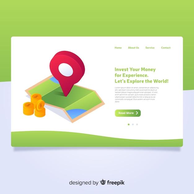 Pagina di destinazione isometrica Vettore gratuito