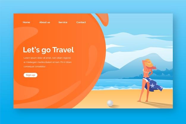 Pagina di destinazione modello di viaggio Vettore gratuito
