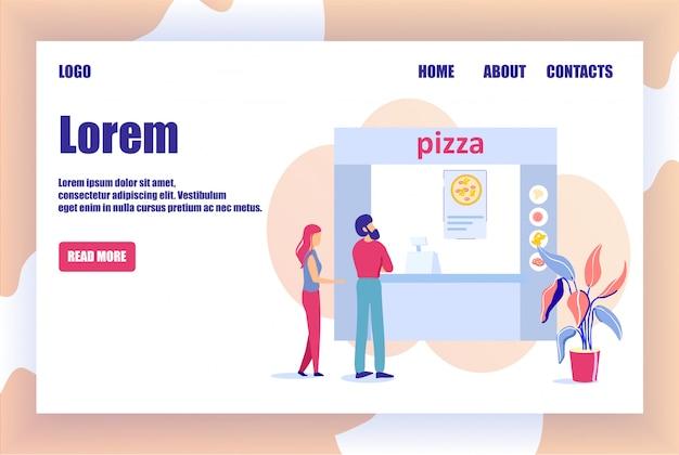 Pagina di destinazione pizzeria online offerte ordina pizza Vettore Premium