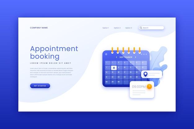 Pagina di destinazione prenotazione appuntamenti Vettore gratuito