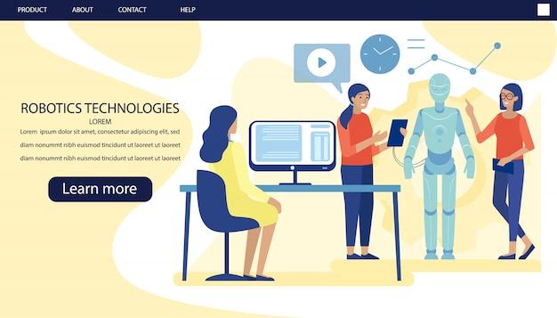 Pagina di destinazione pubblicità modern scientific lab Vettore Premium