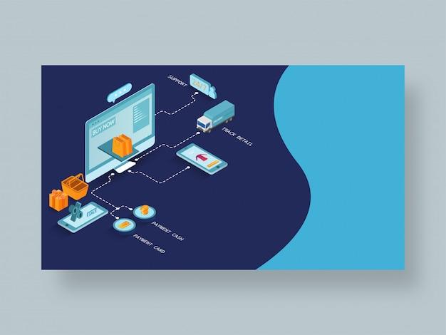 Pagina di destinazione reattiva o modello web Vettore Premium