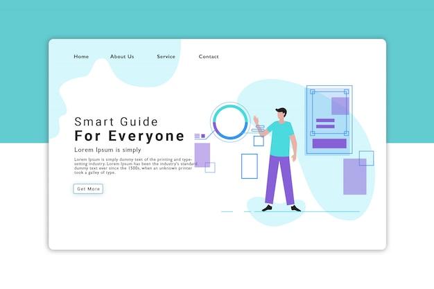 Pagina di destinazione smart guide Vettore Premium
