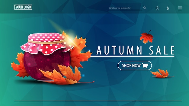 Pagina di destinazione vendita autunno Vettore Premium