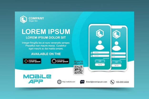 Pagina di download del vettore dell'app mobile Vettore Premium