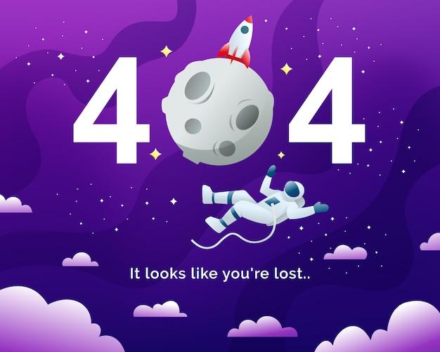 Pagina di errore 404 non trovata Vettore Premium