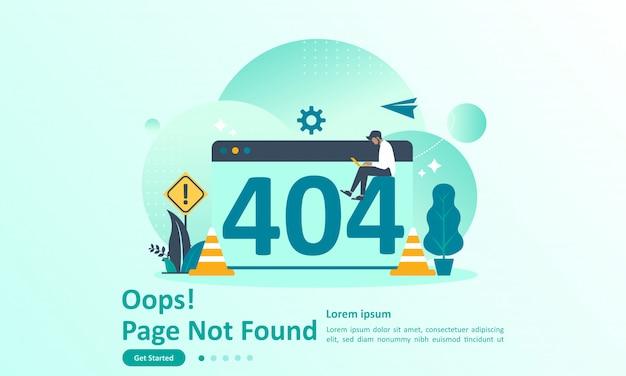 Pagina di errore 404 pagina di destinazione non trovata Vettore Premium