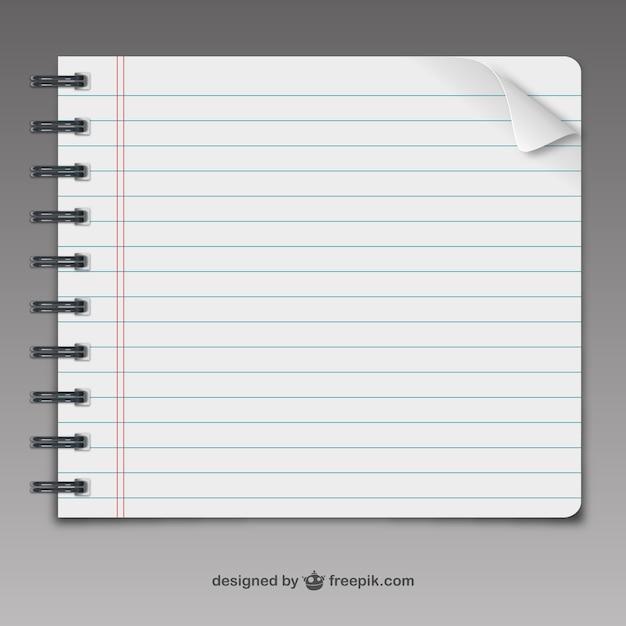 Pagina notebook vettoriale Vettore gratuito