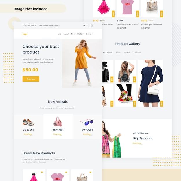 Pagina web di vendita e-commerce Vettore Premium