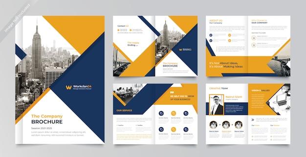 Pagine brochure aziendale design template premium Vettore Premium
