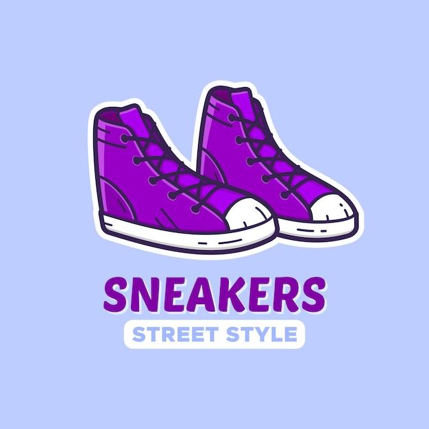 Paio di scarpe da ginnastica. Vettore Premium